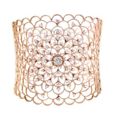 18k 2.15ctw Diamond Hinged Bracelet