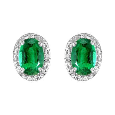 14k Citrine and Diamond Earring
