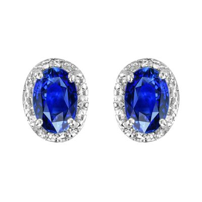 14k Sapphire and Diamond Earring