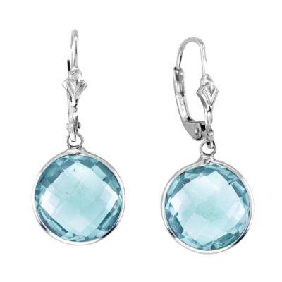 Sterling Silver Blue Topaz Earring