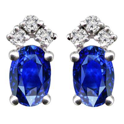 14k Sapphire and Diamond Earring