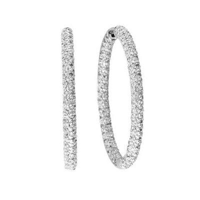 14k 0.75ctw Diamond Hoop Earrings