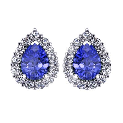 14k Tanzanite and Diamond Earring