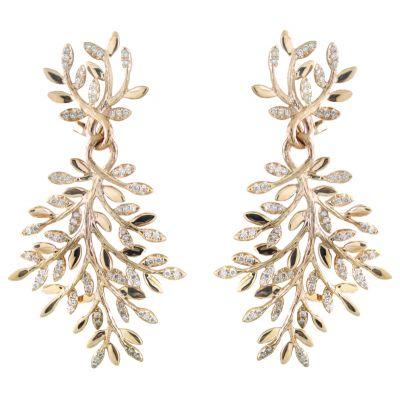 18k 1.30ctw Diamond Earring