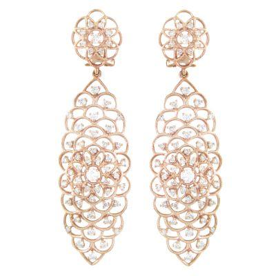 18k 1.65ctw Diamond Earring