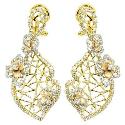 18k 2.10ctw Diamond Earring