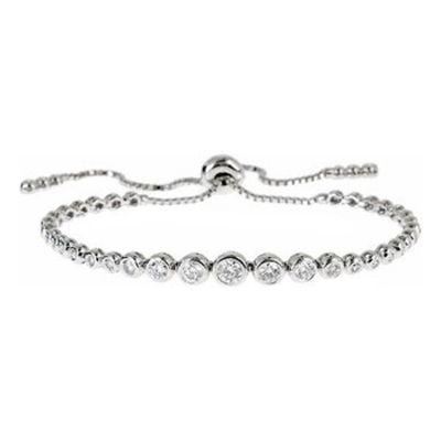 14k Diamond Bolo Bracelet