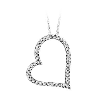 Diamond 14k Gold Heart Pendant