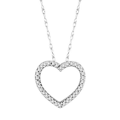Diamond 14k Gold Heart Pendant