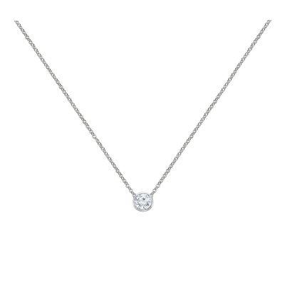 14k 1ctw Diamond Solitaire Pendant
