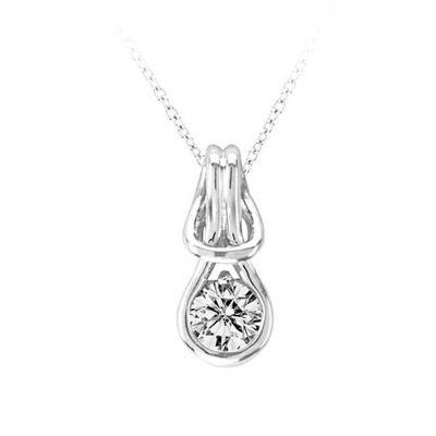 14k 0.25ctw Diamond Love Knot Pendant