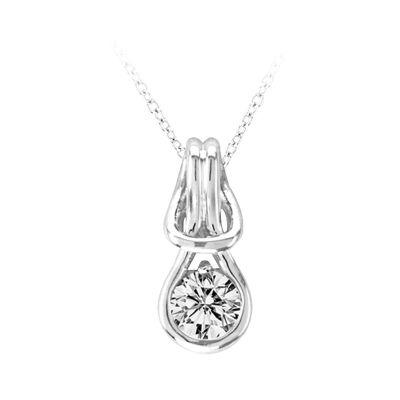 14k Diamond Love Knot Pendant
