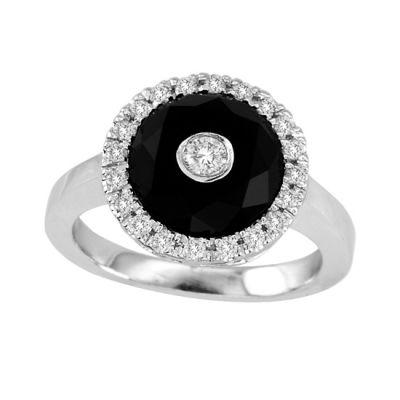 14k Onyx and Diamond Ring