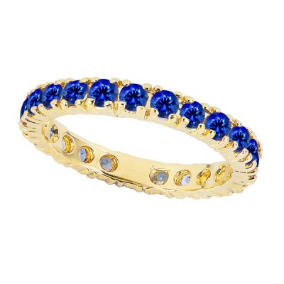 14k 2ctw Sapphire Stackable Eternity Ring
