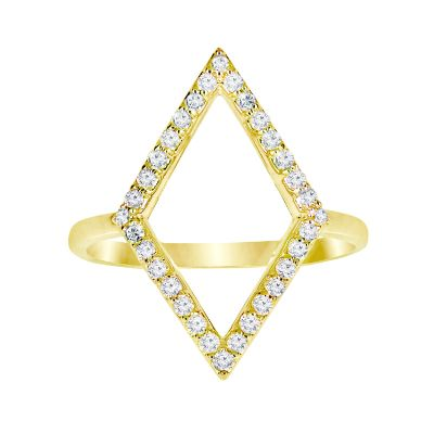 14k Diamond Trend Ring