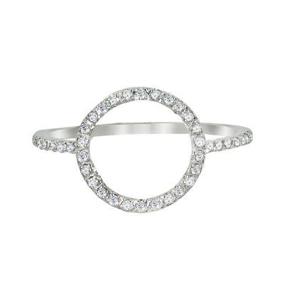 14k Diamond Trend Circle Ring