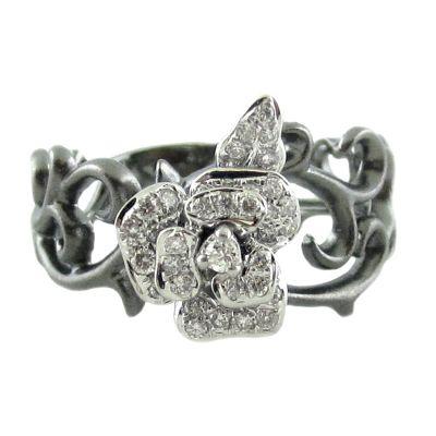 18k .25ctw Diamond Ring