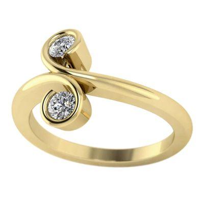 14k .25ctw Diamond Two Stone Ring