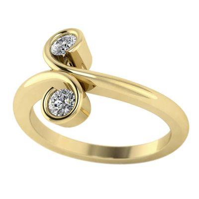 14k .50ctw Diamond Two Stone Ring