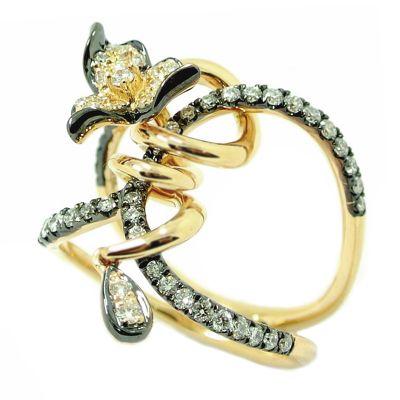18k .60ctw Diamond Ring