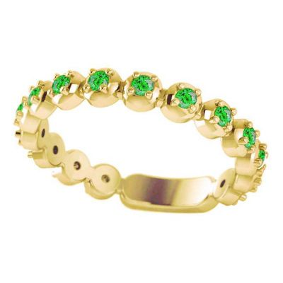 14k Tsavorite Stackable Ring