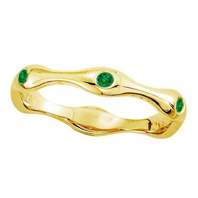 14k Emerald Stackable Ring