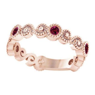 14k Ruby Stackable Ring