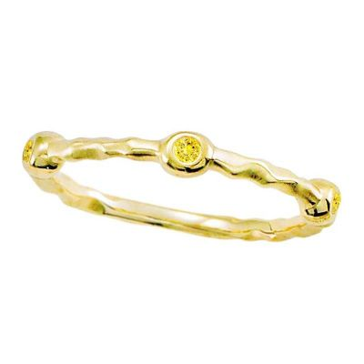 14k Yellow Sapphire Stackable Ring
