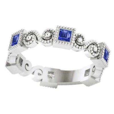 14k Sapphire Stackable Ring
