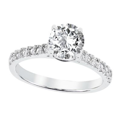 .30ctw Diamond Semi-Mount Platinum Ring