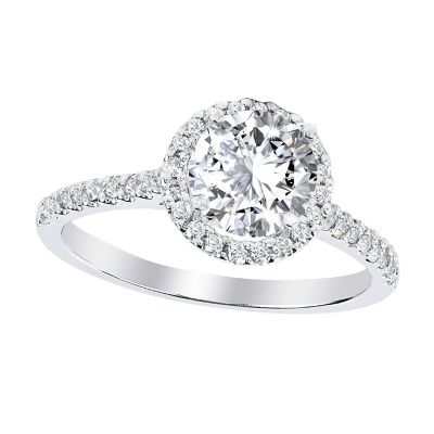 .33ctw Diamond Semi-Mount Platinum Ring