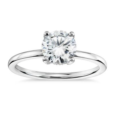 Platinum Diamond Bridal Semi-mount Ring
