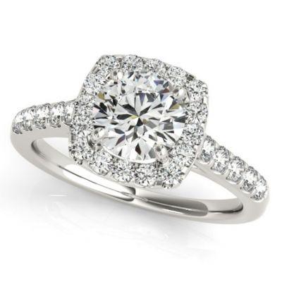 Platinum Diamond Semi-mount Bridal Ring