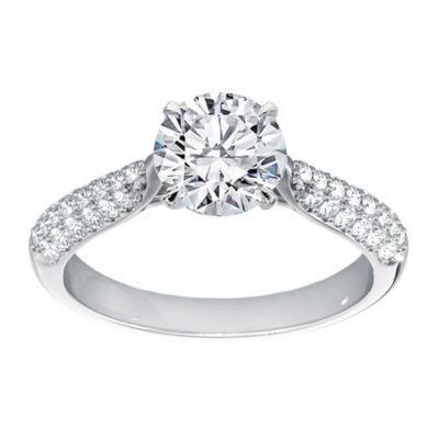 Platinum Diamond Semi-mount Bridal Ring