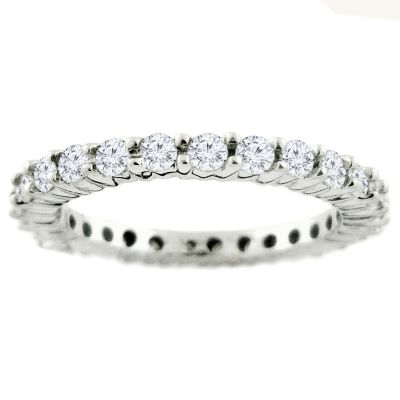 Platinum 1.00ctw Diamond Eternity Ring