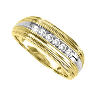 14k Gold Diamond Men's Ring