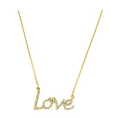 14k Diamond Love Necklace