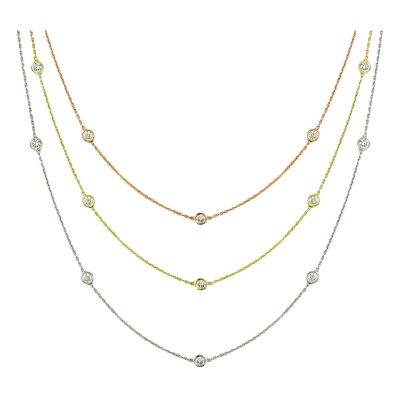 14k 1ctw Diamond By The Yard Necklace