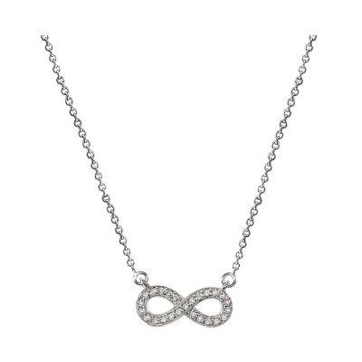 14k Diamond Infinity Necklace