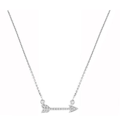 14k Diamond Arrow Necklace