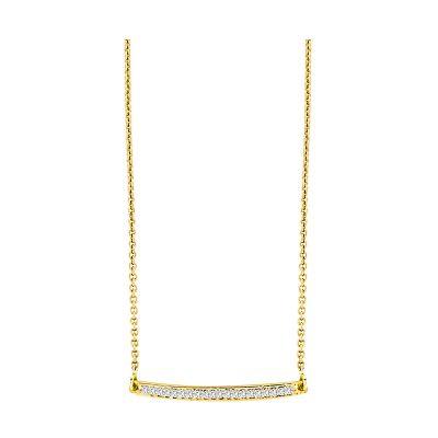 14k Diamond Bar Necklace