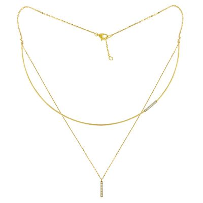 14k Trendy Layered Necklace
