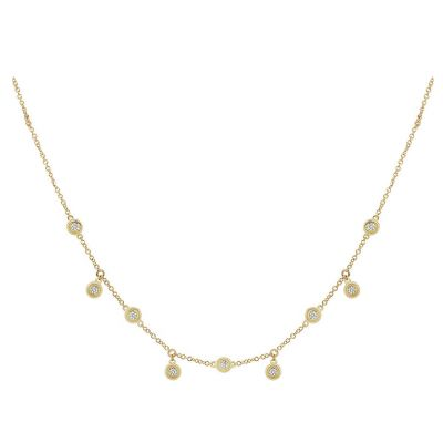 14k 0.35ctw Diamond Cleopatra Necklace