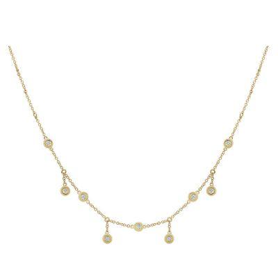 14k 0.25ctw Diamond Cleopatra Necklace