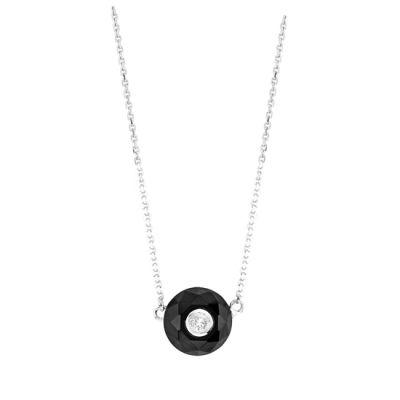 14k Onyx and Diamond Necklace
